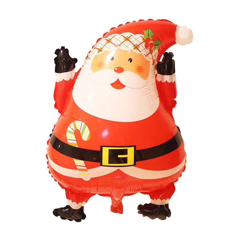 60cm <font><b>1</b></font> piece Christmas balloons Santa Claus 2 shapes double face same printer Aluminium Foil balloon kids toy play image