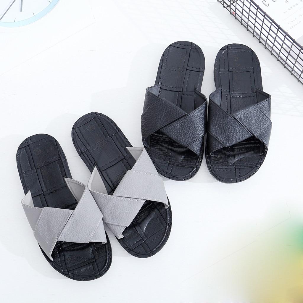 2019 Heißer Kleine Schwarz Nicht-slip Pvc Blasen Boden Hausschuhe Britischen Mode Persönlichkeit Kreuz Gürtel Sandalen Zapatillas Hombre 30 SchöN In Farbe