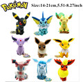 "Novo 8 ""Grande 9 pcs Pokemon Evolução Eevee Plush doll Toy Eeveelution Presentes Dos Miúdos"