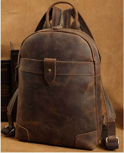 mens Small Genuine Leather Backpack Retro Style Cowhide Leather Cross body Bag For iPad Boy Travel Casual Day packmens Small Genuine Leather Backpack Retro Style Cowhide Leather Cross body Bag For iPad Boy Travel Casual Day pack