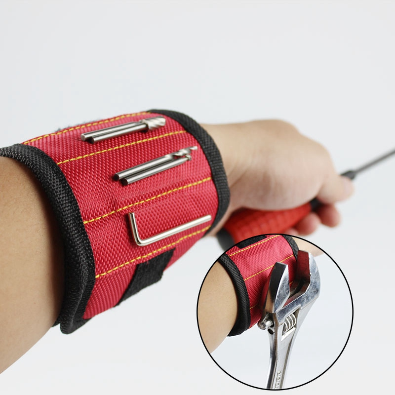 Magnetic Wristband Pocket Tool Practical Arm Band Wrist Toolkit Belt Pouch Bag Belt Screws Holder Holding Tools 2 magnets clearaudio professional analogue toolkit