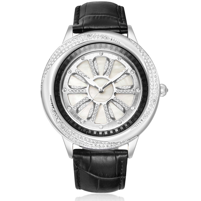 Full Diamond Female Watch Woman Quartz Watch Ladies Fashion Clock Leather Bracelet Waterproof Table Top Brand Luxury Reloj Mujer цена 2017