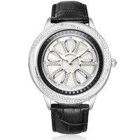 Full Diamond Female Watch Woman Quartz Watch Ladies Fashion Clock Leather Bracelet Waterproof Table Top Brand Luxury Reloj Mujer