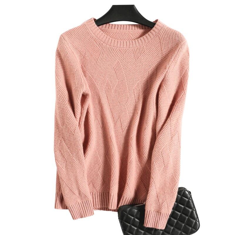 camel pink Laine Hiver Femmes 18003 En cou 18003 Lady Lâche Chandails Tricot O Beige Outwear Cashmere Pullover Tricoter Câble 18003 Ja Ja Hauts 2019 De orange Ja À Pull Ja 18003 nBf8qYqvw