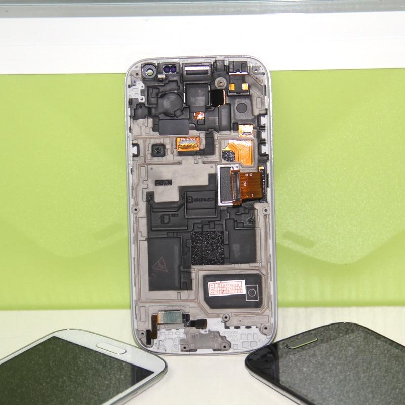 imágenes para Compatible Para Samsung Galaxy s4 mini i9190 i9195 Lcd pantalla táctil con digitalizador + Conjunto Del Bastidor Del Bisel Blanco Azul