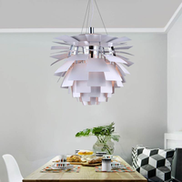 Modern Pipecone Lustre Pendant Lights Artichoke Shape Hang Lamp Kitchen Loft Decor Home Luminaria Pendente Lamp Led Fixture