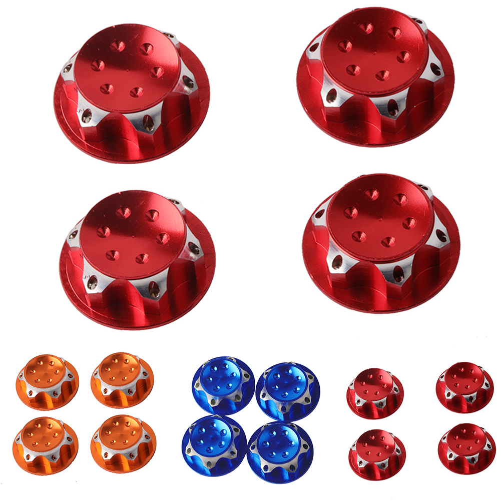 4pc Aluminium Wheel Hub Cover Antidust Cover 17mm HEX Nut For RC 1:8 Model Car I