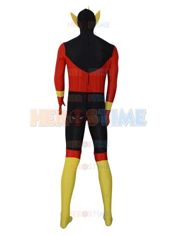 Nouvelle coutume le Costume de super héros Flash Lycra Spandex Halloween Cosplay Party Zentai Costume pour adulte/enfants le plus populaire - 3