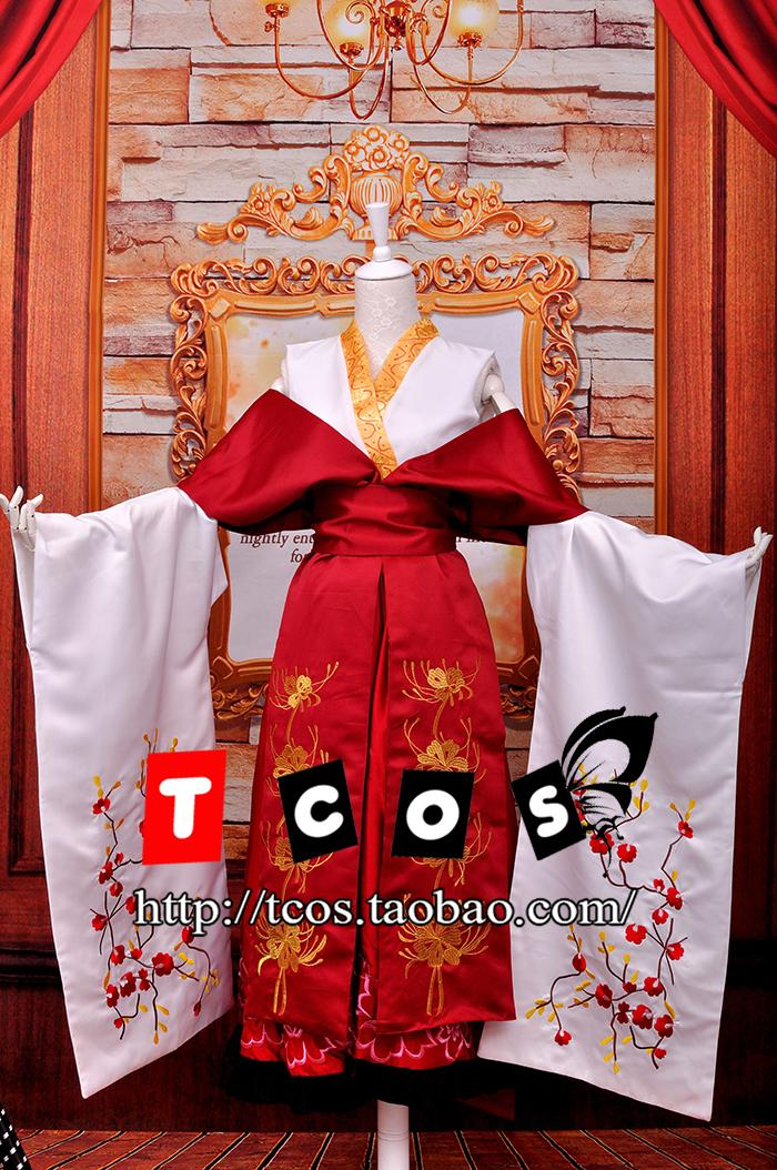 Vocaloid cosplay kagamine len frauen dress kimono lolita langen rock ritt abend...