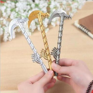Hot sale game childs gift gel pen sickle kawaii gel pen cute stationery school supplies for gift