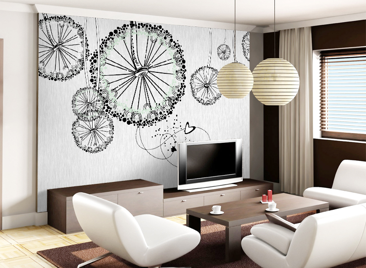 Large Embossed Modern wallpaper oil painting tv mural wall