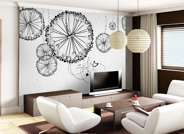 Large Embossed Modern Wallpaper Oil Painting Tv Mural Wall