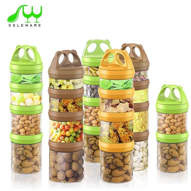 Twist Lock Baby Snack Box Baby Food Storage Box BPA Free Portable Sealed  Snack Jar Formula
