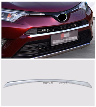 Fit voor TOYOTA RAV4 2016 2017 2018 ABS Chrome Voorbumper Protector Strip Molding Cover Trim auto accessoires