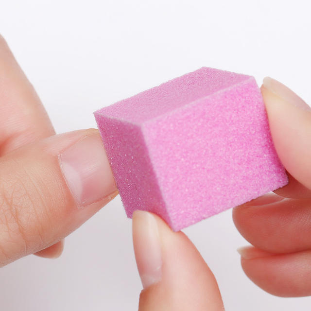 1 Bag Mini Colorful Irregular Sanding Sponge Nail Buffers Files Grinding Polishing Nail Art Tool for UV Gel Polish Random Color