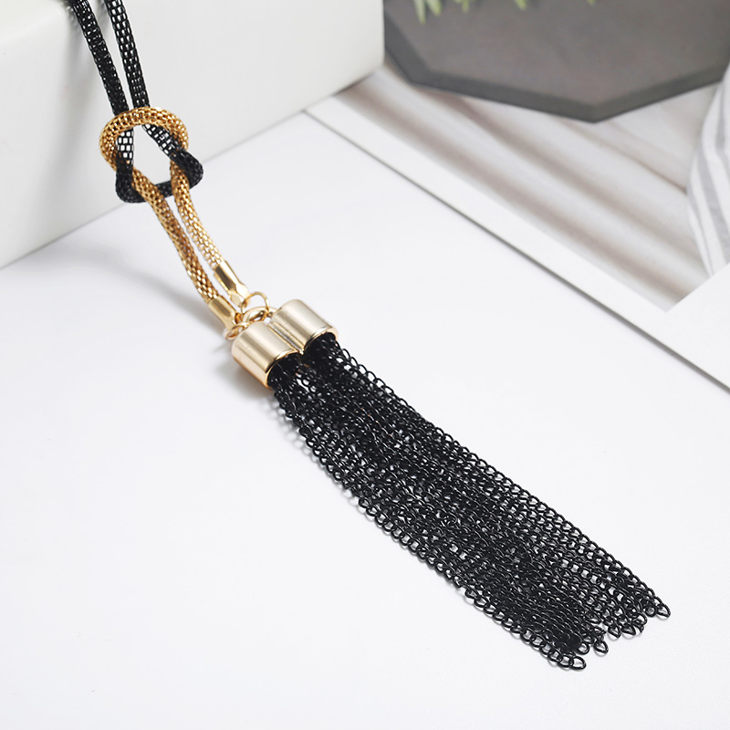 Tassel Long Winter Sweater Chain Necklace for Women