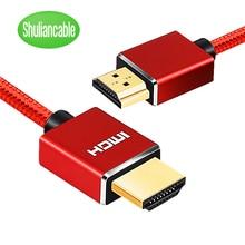 Câble HDMI tresse Nylon 1m 2m 3m 5m 10m 15m 20m câble hdmi 4k 1080P 3D pour HDTV PS4 Xbox projecteur ordinateur portable