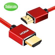 Cable HDMI trenzado de nailon, 1m, 2m, 3m, 5m, 10m, 15m, 20m, hdmi, 4k, 1080P, 3D, para HDTV, PS4, Xbox, proyector, ordenador portátil