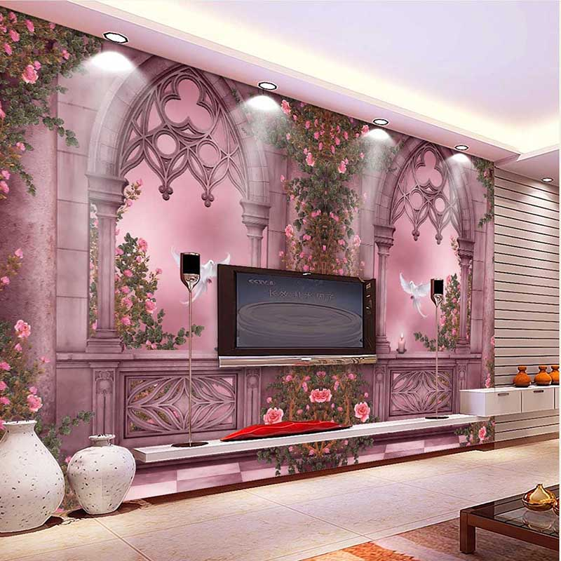 Buy 2016 new fashion 3d landscape wallpaper rose tree window wall paper home Home decor survivor 6