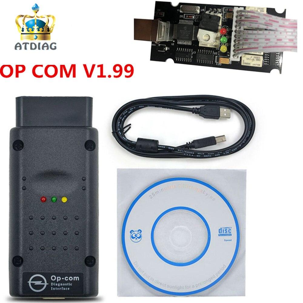 El OP-COM-herramienta de diagnóstico OP COM 1,99 pic18f458 A +, OP-COM de calidad para Op * el, pic18f458