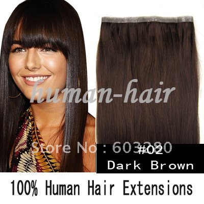 20inch 50cm long PU skin weft hand made weaving human hair 36inch 92cm width 55gram 2