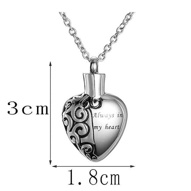 Online shop stainless steel love heart necklace memorial cremation stainless steel love heart necklace memorial cremation ashes urn necklace locket pendant bone ash jewelry for men women pendant mozeypictures Images