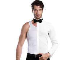 men's shapewear underwe gynecomastia beer belly control singlets body slimming undershirts fat reduce shapers S,M,L,XL,XXL