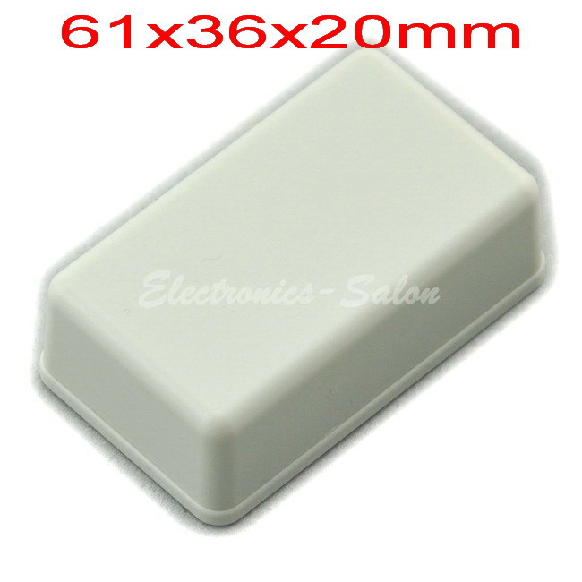 Small Desk-top Plastic Enclosure Box Case,White, 61x36x20mm,  HIGH QUALITY.