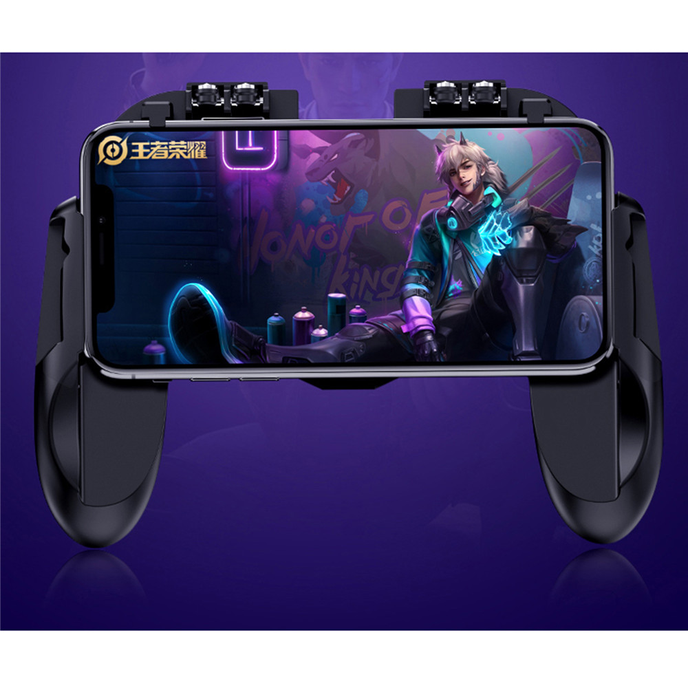 Image 3 - PUBG Mobile Controller Gamepad With Cooler Cooling Fan For iOS Android Smartphone 6 Fingers Operation Joystick Cooler Battery-in Gamepads from Consumer Electronics