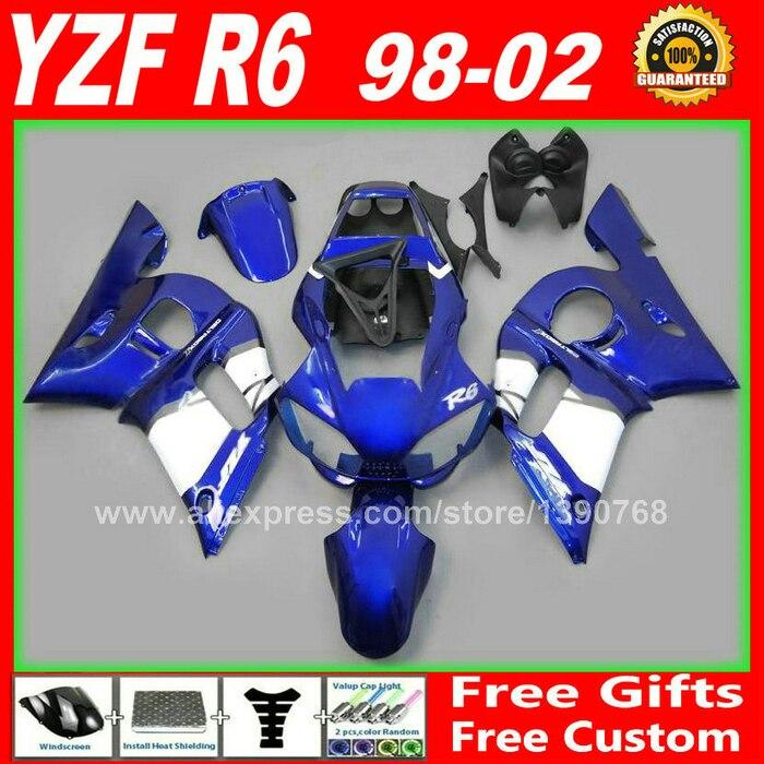 De reparo do corpo carenagem para YAMAHA R6 1998 1999 2000 2001 2002 carenagem kits kit de 98 99 00 01 02 profissional
