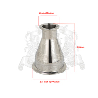 Tri Clamp Reducer 2 52mm OD64 X 2 5 63mm OD77 5 SS 304 Stainless Steel