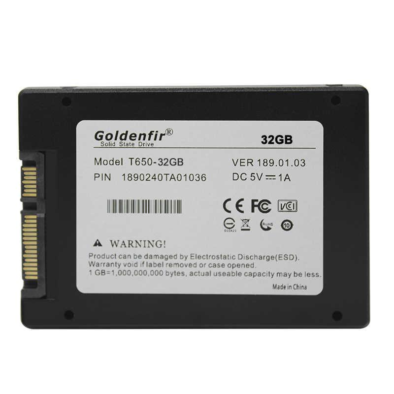Goldenfir 2.5 ssd hdd hard disk 32gb 60gb 120gb 240gb hard drive 360g 480g 960g di disco a stato solido ssd da 32gb 500gb 1tb per PC