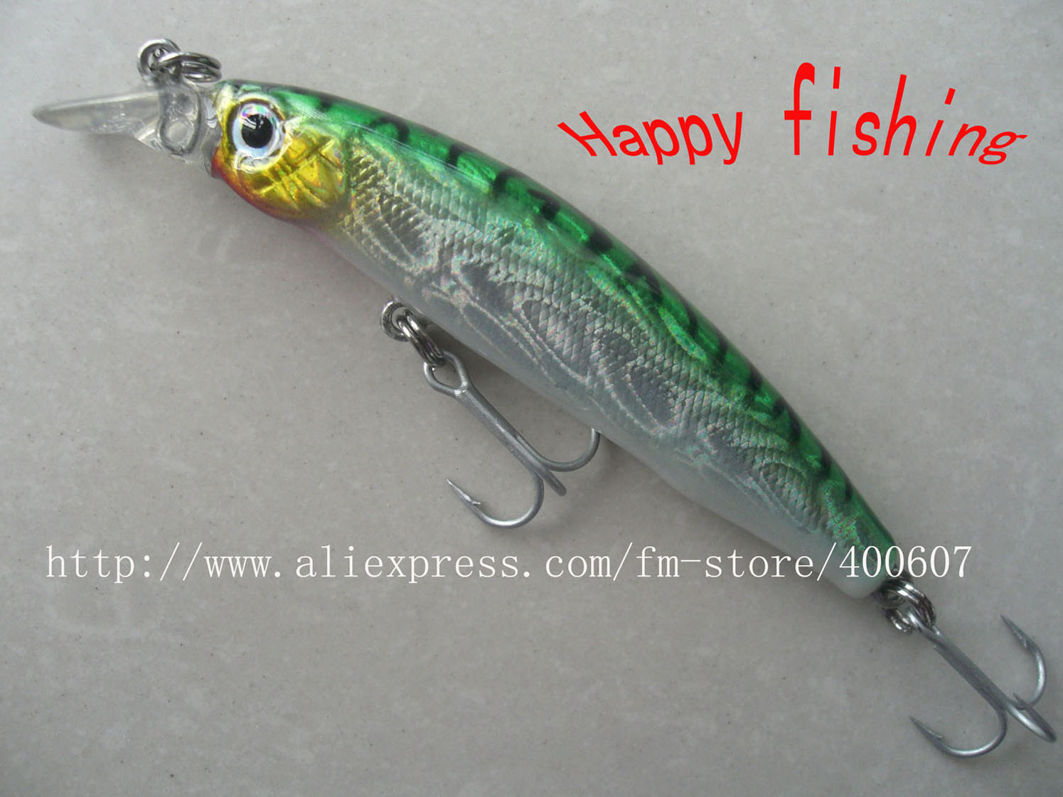 Japanese style fishing lure bass terminator minnow m85f for Japanese fishing lures