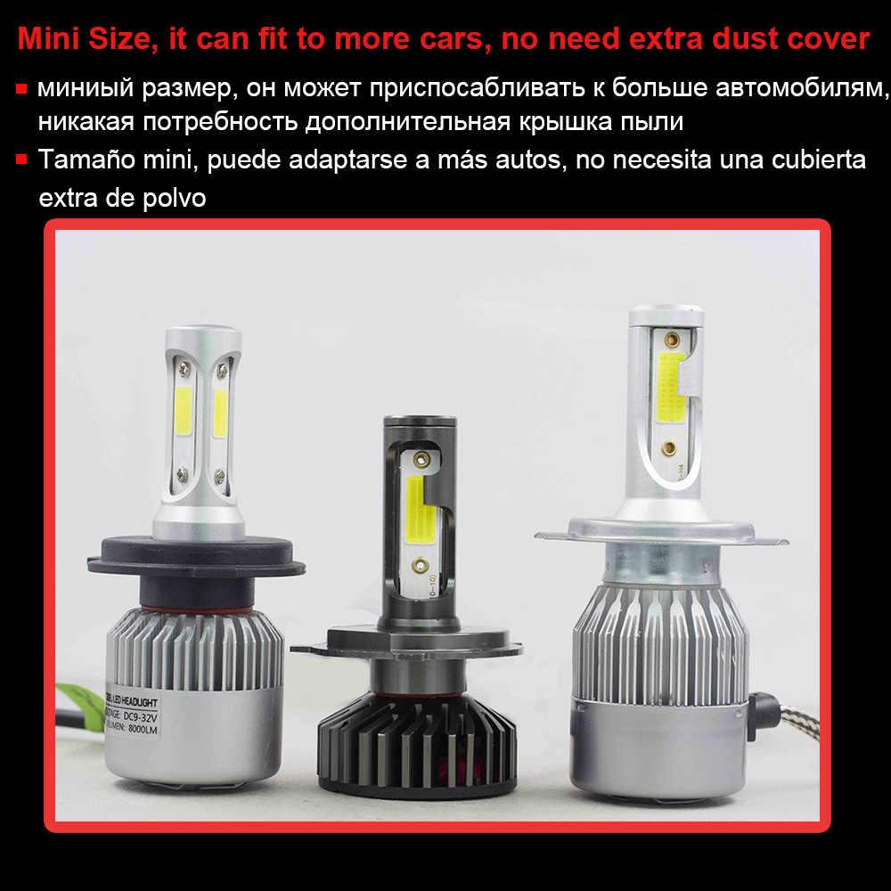 YHKOMS H4 LED H7 LED Canbus H8 H9 H11 9005 9006 880 881 H27 H1 H3 3000K 4300K 6500K 8000K Car Headlight Auto Fog Lamp 12V 24V