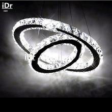 Европа 2 Кольцо LED Люстра Свет Современный Crtstal светильник Круги 100% Гарантия светильник Спальня Зал SDE-01