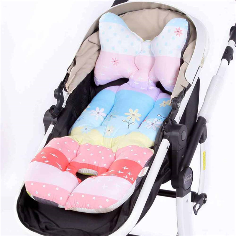 Hearty Baby Stroller Accessories Cotton Seat Cushion Soft Thick Baby Trolley Mattress Pad Cartoon Wheelchair Carriage Pillow Cover Cart Activity & Gear