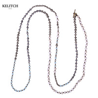 KELITCH Jewelry New Arrival Cool Summer Necklace For Beach Travel Handmade Crystal Beaded Women Necklace Nice Cardboard Bag Pack