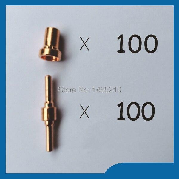 18205L Plasma Electrodes Extended & 18866L Plasma Tip Nozzles Extended Fit PT31 LG40 Plasma Cutter Consumables KIT 200PK