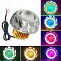 10X Universal Hi/Lo Beam Projector Lens Headlight with Double Angel Eyes Demon Eye for Motorcycle LED Fog Light #CA4177