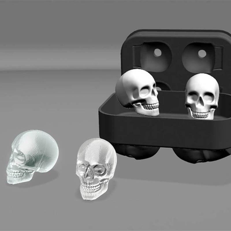 Neue Design 3D Schädel Silikon Eisform Kühlen Whisky Wein Cocktail Eiswürfel Maker Home Küche Eis Stopfen Form DIY Tools