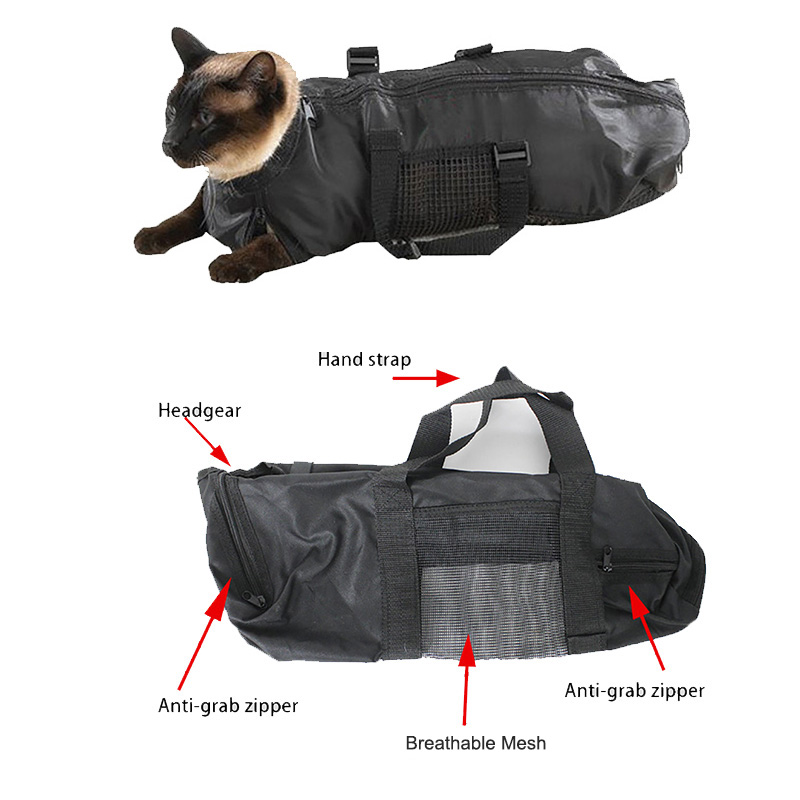 Us 10 81 30 Off Multipurpose Cat Grooming Bag Durable Restraint Carrier Muzzle Bathing Nail Cut Cleaning Beauty Pet Supplies In