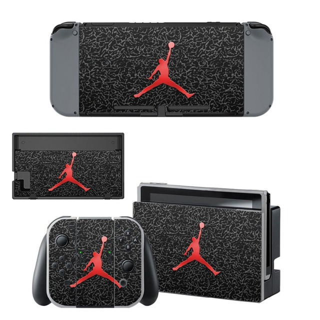 Air Man Jordan NS Game Console Skin and Controller Vinyl Decal Sticker for Nintend Switch Skins Cover Set 2