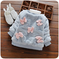 sweet baby girls coat bow infant girls sweater fake fur children clothing autumn winter pearl kids clothes for christening party