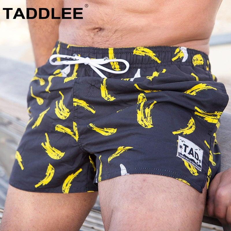 Taddlee бренд для мужчин быстросохнущая пляжная одежда пляжные шорты мужские купальники для малышек купальники активных бермуды Человек трен...
