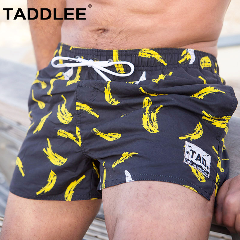 Taddlee Brand Men's Quick drying Beachwear Board Shorts Mens Swimwear Swimsuits Active Bermudas Man Workout Cargos Boxers Trunks