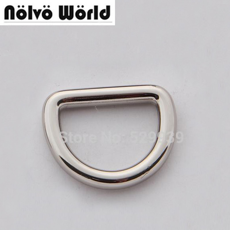 100pcs 5 0mm 2 5cm 1 inside bags purse connect hardware closed metal d ring supply