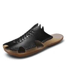 Kesmall Новое поступление Летняя обувь ручной работы Одежда высшего качества Регулируемая ширина мужские сандалии модные повседневная обувь мужская обувь Открытый WS224