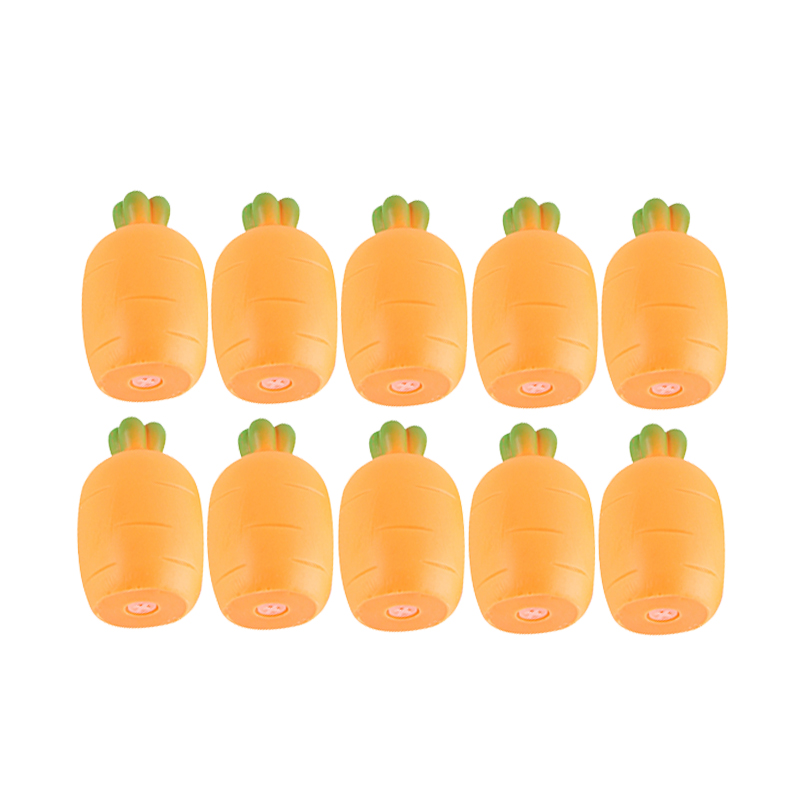 10pcs Elastic Simulation Carrot Squeeze Toy Squishy Food Toys Antistress Squishes Sensory Toys Magic Funny Joke Toy Drop Ship