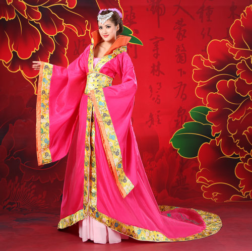 2018 Hanfu Ancient Chinese Costume Women's Hanfu Dress Cosplay - Nationella kläder - Foto 2