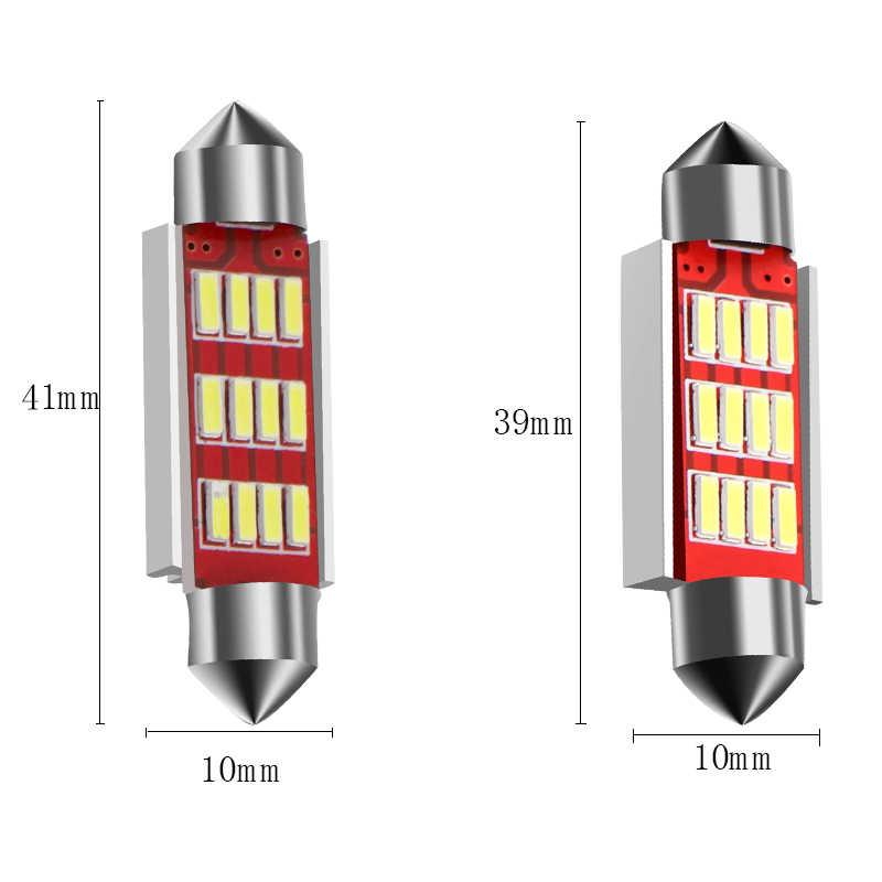 31 мм, 36 мм, 39 мм, 41 мм C5W C10W CANBUS Нет Ошибка Авто гирлянда света 12 SMD 4014 светодио дный салона Купол Лампа настольная лампа белого DC 12 В